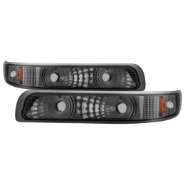 Xtune Chevy Silverado 99-02 Amber Reflector Bumper Lights Smoke CBL-JH-CS99-AM-SM 5064288