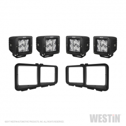 Westin Universal Light Kit for Outlaw Front Bumpers - Textured Black 58-9915