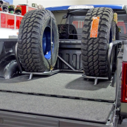 N-Fab Bed Cage 15-17 Ford F150/ Raptor SuperCrew 5.5ft Bed - Gloss Black F1825CCBC