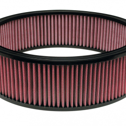 Airaid Universal Air Filter - 14in OD x 12in ID x 4in H - Dry / Red Media 801-377