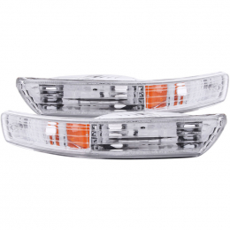 ANZO 1998-2001 Acura Integra Euro Parking Lights Chrome w/ Amber Reflector 511021