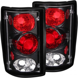 ANZO 2000-2005 Ford Excursion Taillights Black 211051