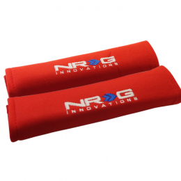NRG Seat Belt Pads 2.7in. W x 11in. L (Red) Short - 2pc SBP-27RD