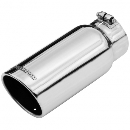 Flowmaster Exhaust Tip - 5.00 In. Rolled Angle Polished Ss Fits 4.00 In. Tubing (Clamp On) 15368