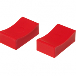 Prothane Universal Jack/Stand Pads (Fits 2.5 x 4.5 Head) - Red 19-1411