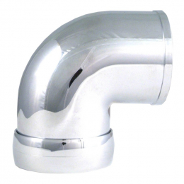 Spectre Universal Intake Elbow Tube (ABS) w/Collar 3in. OD / 90 Degree - Chrome 8698