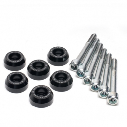Skunk2 88-00 Honda Civic/90-01 Acura Integra Black Anodized Lower Control Arm Bolt Kit 649-05-0415