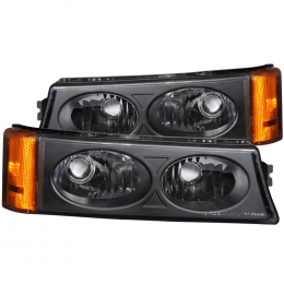ANZO 2003-2006 Chevrolet Silverado 1500 Euro Parking Lights Black 511036