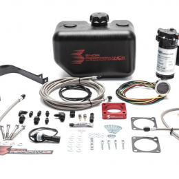Snow Performance 08-15 Evo Stg 2 Boost Cooler Water Injection Kit w/SS Braid Line & 4AN Fittings SNO-2120-BRD