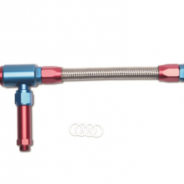 Russell Performance -8 AN to -8 AN ProFlex King Demon Carb Dual Inlet Carb Kit (Red/Blue) 641360