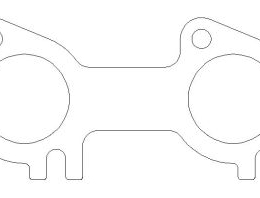 Cometic 91-01 Ford 4.6L SOHC / 99+ 5.4L Triton .030 inch MLS Exhaust Gaskets (Pair) C5853-030