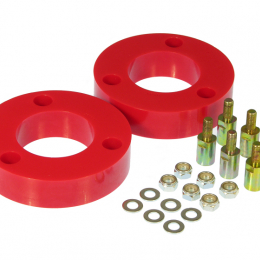 Prothane 04-08 Nissan Titan Front Coil Spring 2in Lift Spacer - Red 14-1701