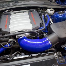 Mishimoto 2016+ Chevrolet Camaro SS Silicone Induction Hose - Blue MMHOSE-CAM8-16IHBL