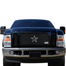RBP RX-1 RL Series Smooth Frame 3pc. Grille 08-10 Ford Super Duty F250/F350 (Except Harley) - Black RBP-254563