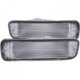 ANZO 1995-1997 Toyota Tacoma Euro Parking Lights Chrome 511018