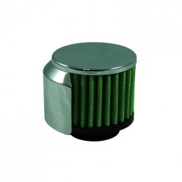 Green Filter Crankcase Filter w/SS Deflector Shield - ID 1.375in / Bs 2.95in / Top 2.95in / H 2.56in 2106