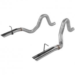 Flowmaster 87-93 Mustang Prebent Tailpipes - 3.00 In. Rear Exit W/Stainless Tips (Pair) 15820
