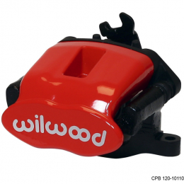 Wilwood Caliper-Combination Parking Brake-L/H-Red 41mm piston 1.00in Disc 120-10110-RD