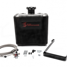 Snow Performance Water Tank Upgrade 7gal (w/Braided SS Line/Brackets/Solenoid/4AN Fittings) SNO-40016-BRD