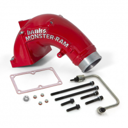 Banks Power 07.5-17 Ram 2500/3500 6.7L Diesel Monster-Ram Intake System w/ Fuel Line 3.5in Red 42788-PC