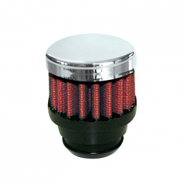 Airaid Chrome Top 1.25in OD - Push On 2in OD 1.5in Tall Breather Filter 775-480