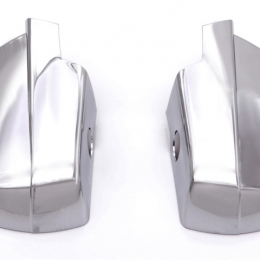 AVS 14-18 Chevy Silverado 1500 (w/Light Holes) Mirror Covers 2pc - Chrome 687683