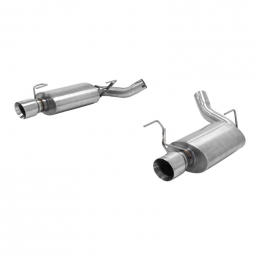 Hurst 05-10 Ford Mustang GT GT500 Axle-back Dual DOR 304 Stainless Steel Moderate Sound 6350021